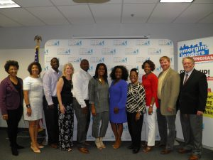 Birmingham graduates left to right: Octavia Kuransky, Instructor, Tammy Honeycutt, MSB Analytics, Inc., Nicholas Dowdell, Provision Contracting Services, LLC, Tamela Gibbs, Wavelink, Inc., Rodney Hartley, Green Is Better, Inc., Darlene Wilson, DC Financial Management, LLC, Abra Barnes, Barnes & Associates, Stacia Robinson, BeneChoice Companies. LLC, Annie Allen, ISeek Solutions, Inc., Bart Justice, Secure Destruction Service, David Ramp, Program Manager.